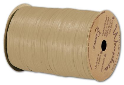 "Matte Wraphia Kraft Ribbon, 1/4"" x 100 Yds"