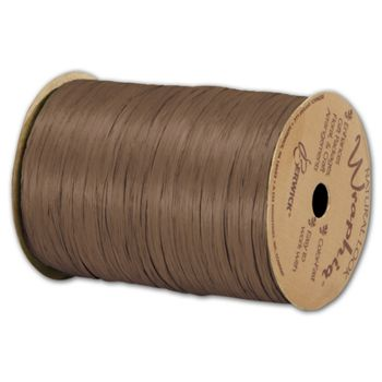 Matte Wraphia Milk Chocolate Ribbon, 1/4