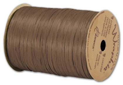 "Matte Wraphia Milk Chocolate Ribbon, 1/4"" x 100 Yds"