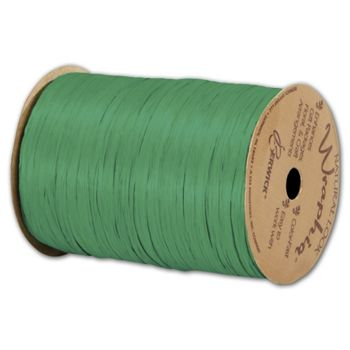 Matte Wraphia Kelly Green Ribbon, 1/4