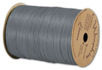 Matte Wraphia Charcoal Ribbon, 1/4