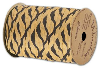 Matte Wraphia Tiger Ribbon, 1/4