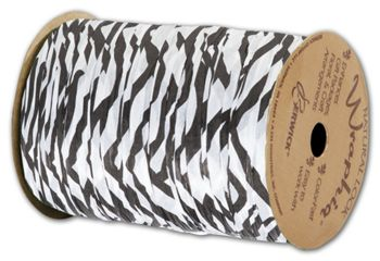 Matte Wraphia Zebra Ribbon, 1/4