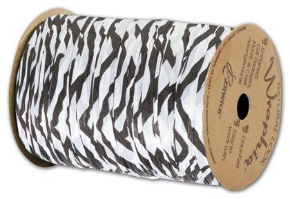 """Matte Wraphia Zebra Ribbon, 1/4"""" x 100 Yds"""