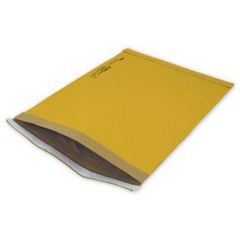 Yellow Jiffy Self-Seal Padded Mailers, 10 1/2 x 16