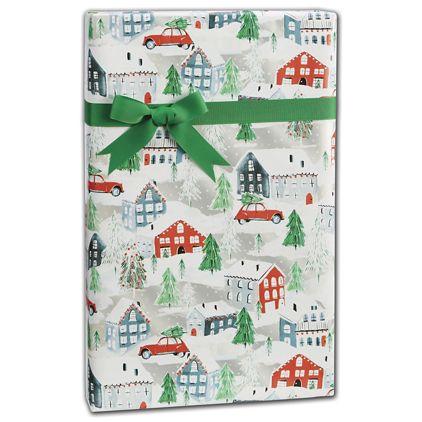 "Christmas Town Gift Wrap, 24"" x 417'"