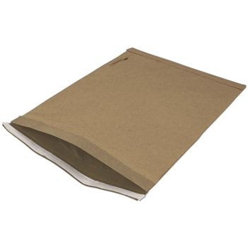 Natural Kraft Jiffy Self-Seal Padded Mailers, 12 1/2 x 19