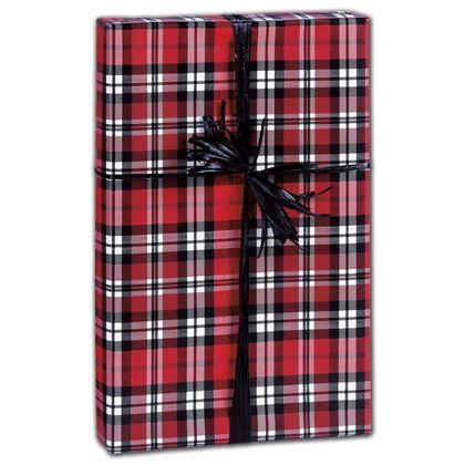 "Authentic Plaid Gift Wrap, 30"" x 208'"