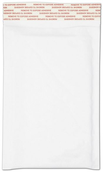 White Self-Seal Bubble Mailers, 4 x 8
