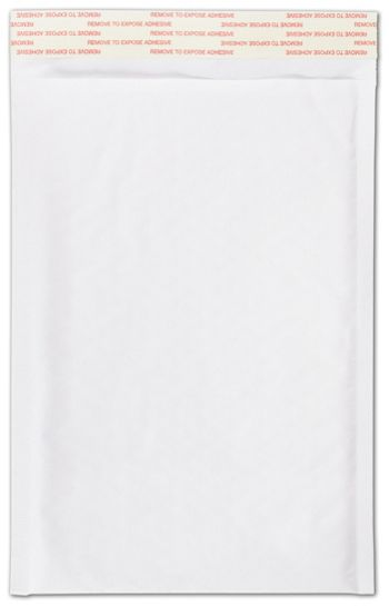 White Self-Seal Bubble Mailers, 7 1/4 x 12