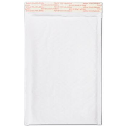 White Self-Seal Bubble Mailers, 7 1/4 x 12""