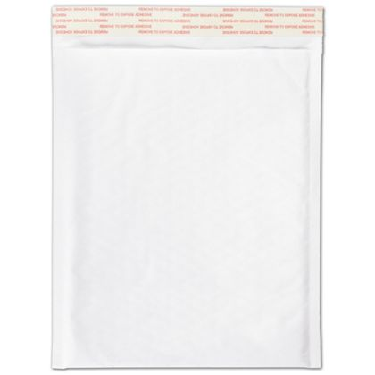 White Self-Seal Bubble Mailers, 8 1/2 x 12""