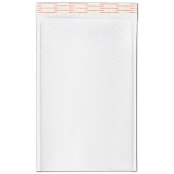 White Self-Seal Bubble Mailers, 8 1/2 x 14 1/2