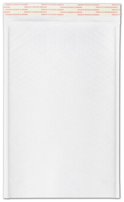 White Self-Seal Bubble Mailers, 8 1/2 x 14 1/2""