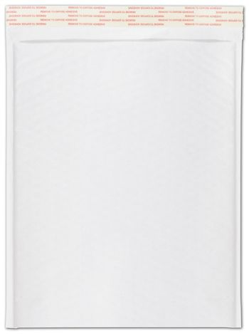 White Self-Seal Bubble Mailers, 10 1/2 x 16