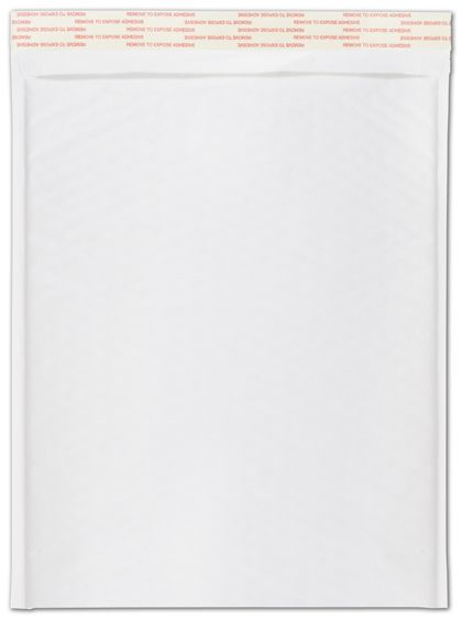 White Self-Seal Bubble Mailers, 10 1/2 x 16""