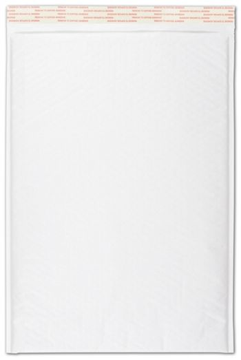 White Self-Seal Bubble Mailers, 12 1/2 x 19