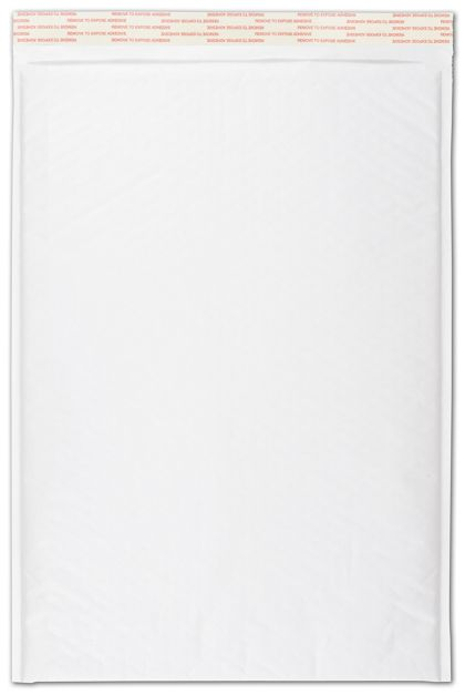 White Self-Seal Bubble Mailers, 12 1/2 x 19""