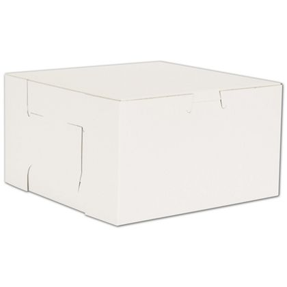 White No Window Bakery Boxes, 1 Piece, 7 x 7 x 4""