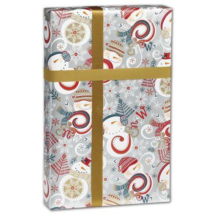"Swirly Snowman Gift Wrap, 30"" x 417'"