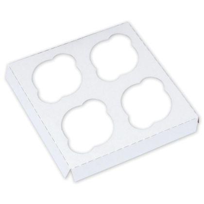 White Standard Cupcake Platforms, 4 Cupcakes