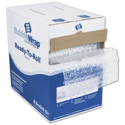 "Clear Bubble Film in Dispenser Box, 12"" x 100'"
