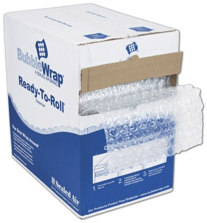 "Clear Bubble Film in Dispenser Box, 12"" x 175'"