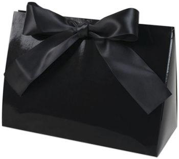 Black Gloss Purse Style Gift Card Holders, 8x3 1/2x5 1/2