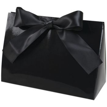Black Gloss Purse Style Gift Card Holders, 8x3 1/2x5 1/2