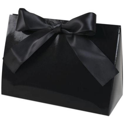 "Black Gloss Purse Style Gift Card Holders, 8x3 1/2x5 1/2"""