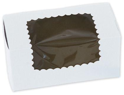 White Windowed Standard Cupcake Boxes, 2 Cupcakes