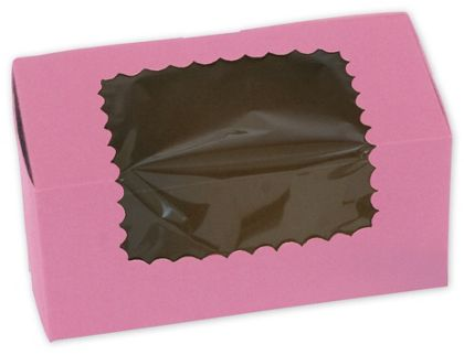 Strawberry Windowed Standard Cupcake Boxes, 2 Cupcakes