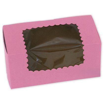 Strawberry Windowed Standard Cupcake Boxes, 2 Cupcakes