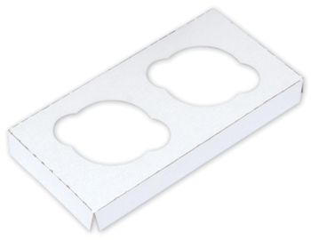 White Standard Cupcake Platforms, 2 Cupcakes