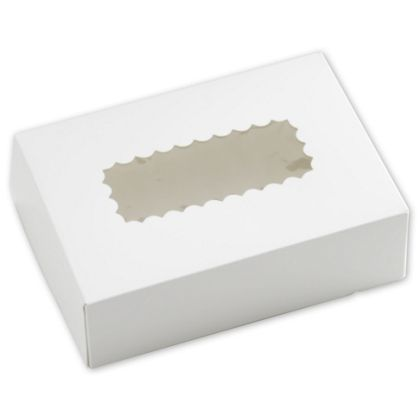 White Windowed Bakery Boxes, 1 Piece