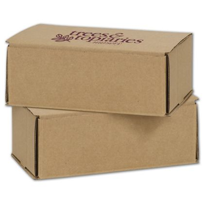 Kraft Mailers, 1 Color/1 Side Exterior, 8 x 6 x 3""
