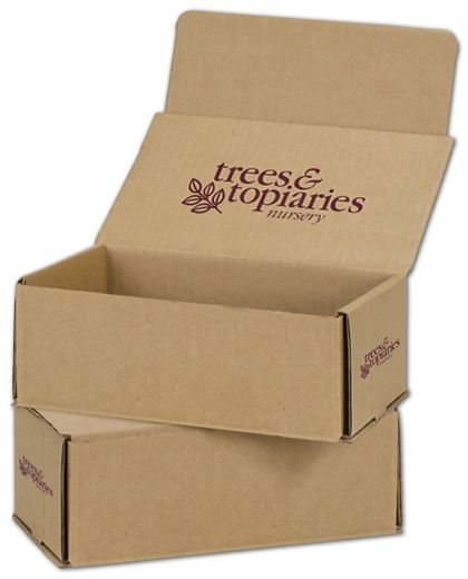 Kraft Mailers, 1 Color/Top Interior/2 Side Exterior, 8x6x3