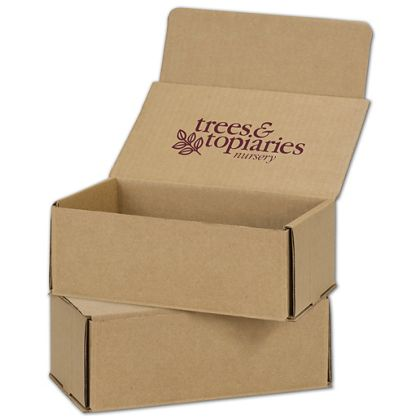 Kraft Mailers, 1 Color/Top Interior Side, 8 x 6 x 3""