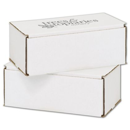 White Mailers, 1 Color/1 Side Exterior, 8 x 6 x 3""
