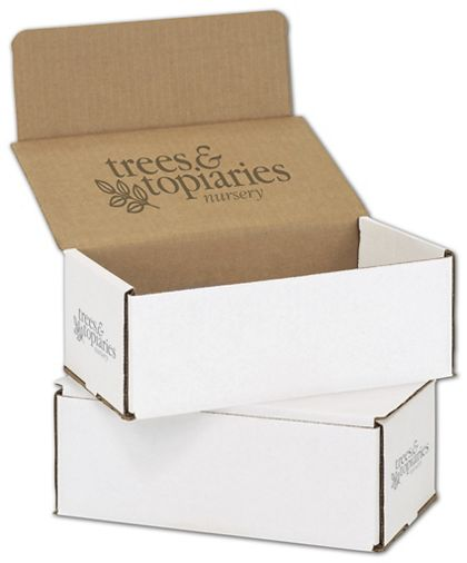 White Mailers, 1 Color/Top Interior/2 Side Exterior, 8x6x3