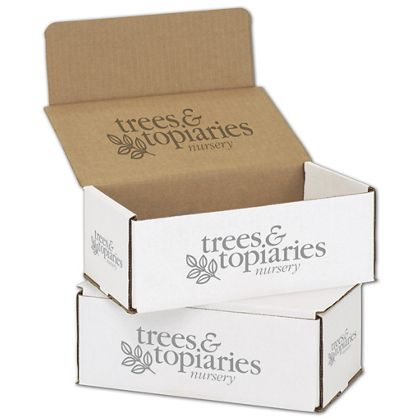 White Mailers, 1 Color/Top Interior/3 Side Exterior, 8x6x3
