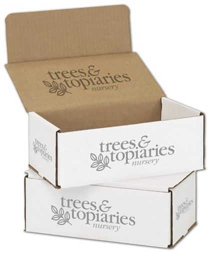 White Mailers, 1 Color/Top Interior/5 Side Exterior, 8x6x3