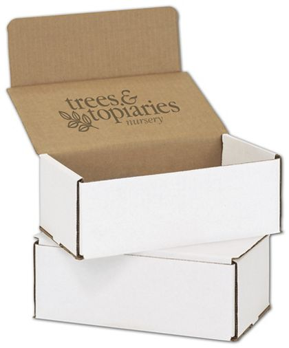 White Mailers, 1 Color/Top Interior Side, 8 x 6 x 3""