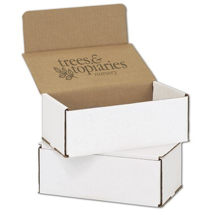 """White Mailers, 1 Color/Top Interior Side, 8 x 6 x 3"""""""