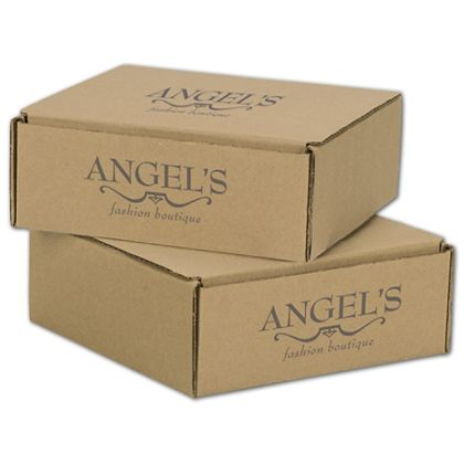 """Kraft Mailers, 1 Color/2 Sides Exterior, 8 x 8 x 3"""""""