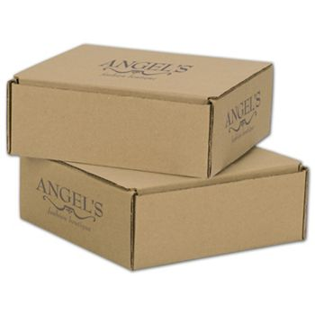 Kraft Mailers, 1 Color/3 Sides Exterior, 8 x 8 x 3