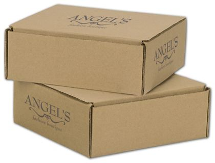 """Kraft Mailers, 1 Color/3 Sides Exterior, 8 x 8 x 3"""""""