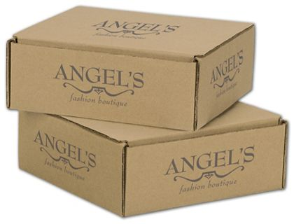 Kraft Mailers, 1 Color/5 Sides Exterior, 8 x 8 x 3""