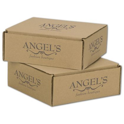 """Kraft Mailers, 1 Color/5 Sides Exterior, 8 x 8 x 3"""""""