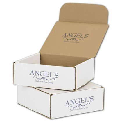 White Mailers, 1 Color/Top Interior/1 Side Exterior, 8x8x3